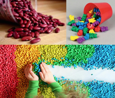 sensory play beans